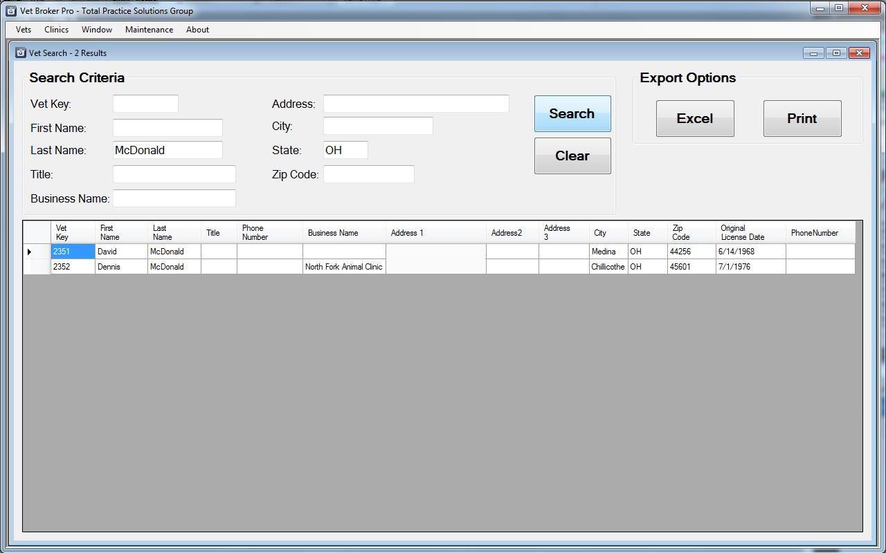Vet Broker Pro - Software for Professionals Brokering